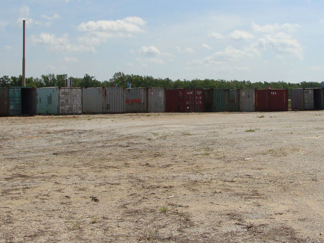multiple cargo containers for sale on the Best Value Mobile Solutions lot