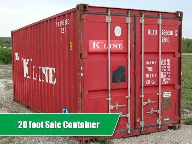 A 20ft container for sale