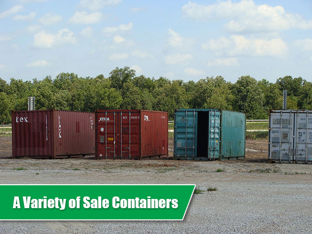 A variety of containers on the Best Value Sale lot