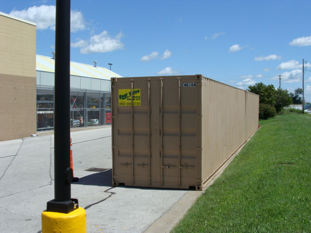 A Best Value Mobiel Storage rental container on location